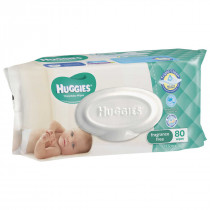 Huggies Thick Baby Wipes Fragrance Free 80 Pack