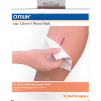 Cutilin 76300 Low Adherent Wound Pads 10X10cm 5 Pack