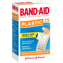 Band-Aid Plastic Adhesive Strips 25 Pack
