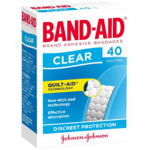 Band-Aid Clear Adhesive Strips 40 Pack