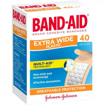 Band-Aid Adhesive Strips Extra Wide 40 Pack