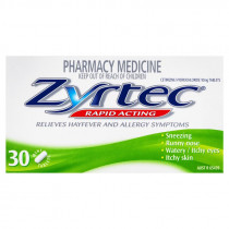Zyrtec 10mg 30 Tablets