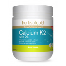 Herbs of Gold Calcium K2 with D3 180 Tablets