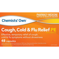 Chemists Own Cough Cold & Flu Relief PE 48 Capsules