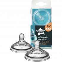Tommee Tippee Advanced Anti-Colic Fast Flow Teats 2 Pack