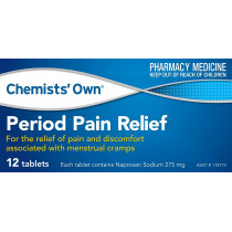Chemists Own Period Pain Relief 12 Tablets