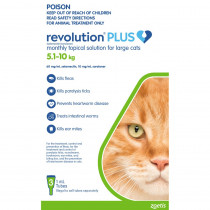 Revolution Plus for Large Cats 5.1 - 10kg Green 3 Pack