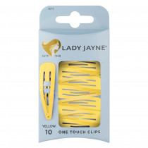 Lady Jayne One Touch Clip Yellow 10 Pack