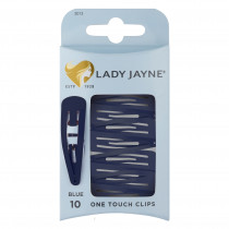 Lady Jayne One Touch Clip Blue 10 Pack