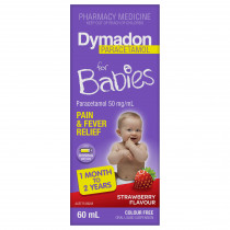 Dymadon for Babies 1 Month to 2 Years Colour Free Strawberry 60ml