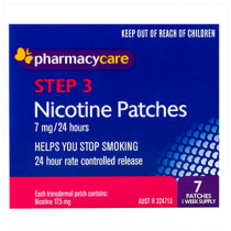 Pharmacy Care Nicotine Patches 7mg 7 Pack