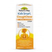 Natures Way Kids Smart Cough Clear Triple Action Syrup 120ml