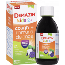 Demazin Kids 2+ Cough + Immune Defence Syrup 200ml
