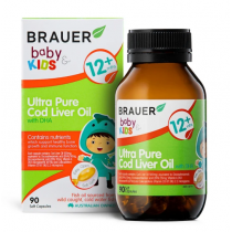 Brauer Baby & Kids Ultra Pure Cod Liver Oil with DHA 90 Capsules