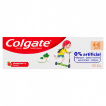 Colgate 0% Artificial Anticavity Fluoride baby Toothpaste 4-6 Years Strawberry 80g
