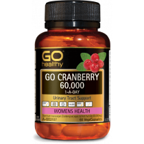 Go Healthy Go Cranberry 60000 1-A-Day 60 Capsules