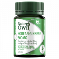 Natures Own Korean Ginseng 500mg 60 Tablets