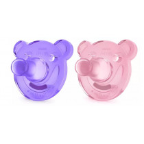 Avent Soothie Shapes Pacifier Bear 0-3 Months 2 Packs (Colour May Vary)