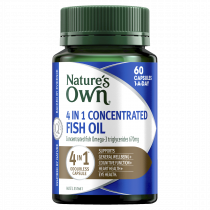 Natures Own 4 in 1 Concentrated Fish Oil Odourless 60 Capsules