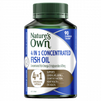 Natures Own 4 in 1 Concentrated Fish Oil Odourless 90 Capsules