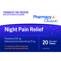 Pharmacy Choice Night Pain Relief 20 Tablets
