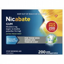 Nicabate Gum Extra Fresh Mint 2mg 200 Pieces