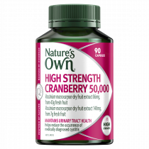 Natures Own High Strength Cranberry 50000 90 Capsules