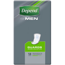 Depend For Men Guards Secure Protection 12 Count