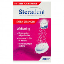 Steradent Denture Cleaning Tablets Extra Strength Whitening 30 Tablets