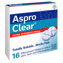 Aspro Clear Extra Strength 16 Tablets