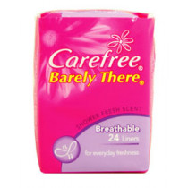 Carefree Barely There Scented Shower Fresh Liners 24 Pack