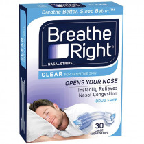 Breathe Right Nasal Strips Large 30 Clear Strips
