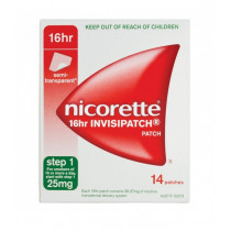 Nicorette Nicotine Patch 16hr Invisipatch Step 1 25mg 14 Patches