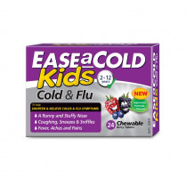 Ease A Cold Kids Cold & Flu 24 Chewable Tablets