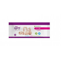 New Beginnings Bamboo Dry Wipes Soft Pack 80 Pcs