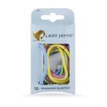 Lady Jayne Assorted Snagless Thick Elastics 10 Pack