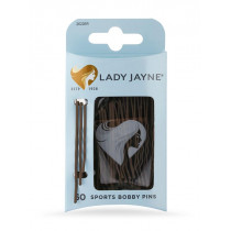 Lady Jayne Brown Super Hold Contoured Bobby Pins 60 Pack