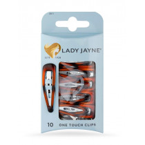 Lady Jayne Shell One Touch Clips 10 Pack