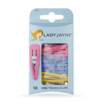Lady Jayne Assorted One Touch Clips 10 Pack