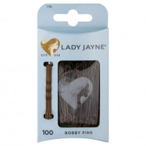 Lady Jayne Bobby Pin Brown Value Pack 100 Pack
