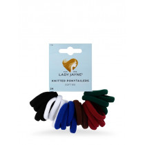 Lady Jayne School Soft Knitted Ponytailers 24 Pack