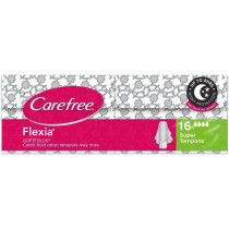 Carefree Flexia Super Tampons 16 Pack