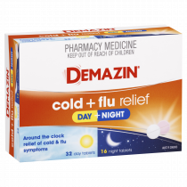 Demazin Cold + Flu Relief Day and Night Tablets 48 Tablets