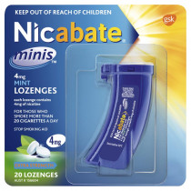 Nicabate Mini 4mg Mint 20 Lozenges