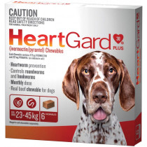 Heartgard Plus For Dogs 23-45kg Chewables 6 Pack