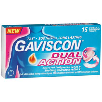 Gaviscon Dual Action 16 Chewable Peppermint Tablets