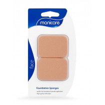 Manicare Foundation Sponge Rectangle Latex Brown 2 Pack