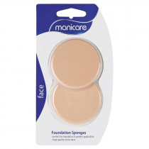 Manicare Foundation Sponges Compact Latex 2 Pack