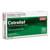 Pharmacy Action Cetrelief 10mg 30 Tablets