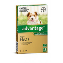 Advantage  For Dogs 0-4kg 4 Pack